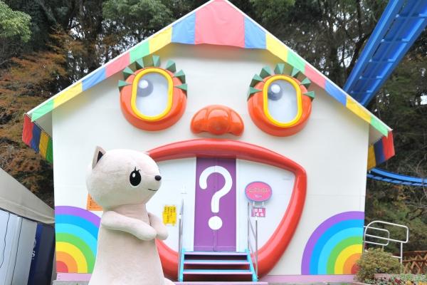 太宰府天満宮の境内に併設している遊園地「だざいふ遊園地」昔ながらの遊園地 びっくりハウス
