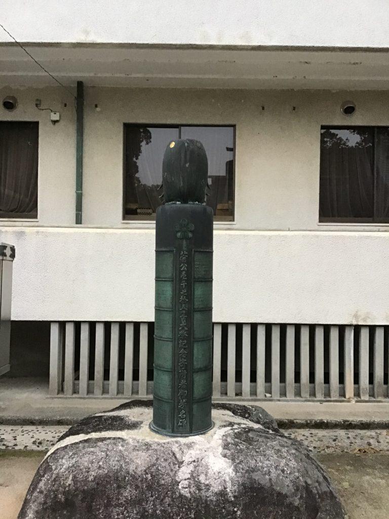 太宰府天満宮 境内 鷽(うそ)モチーフ 銅像多数